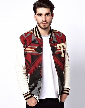 Image 1 ofTrue Religion Sweat Jacket Native Fleece