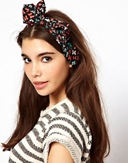 ASOS Butterfly Print Head Scarf