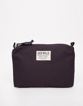 Jack Wills Bickford Canvas Washbag