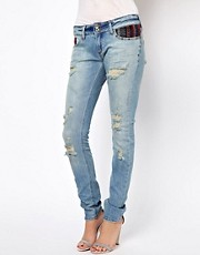 River Island Matilda Skinny Jean With Aztec Pockets