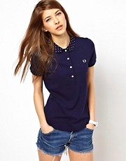 Fred Perry Polo Shirt With Polka Dot Collar