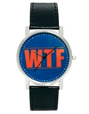 ASOS Watch With WTF Print