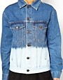 Image 3 ofASOS Denim Jacket in Oversize Boyfriend Fit in Bleach Dip Dye