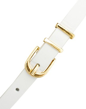 Image 2 ofASOS CURVE Metal Keeper Super Skinny Waist Belt