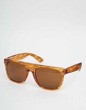 ASOS Flatbrow Sunglasses In Stripey Tort