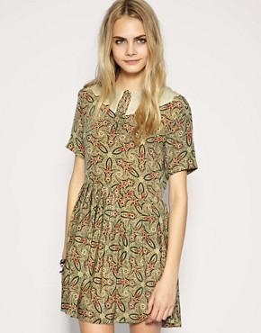 Image 1 ofTBA Exclusive to ASOS Silk Paisley Collar Dress