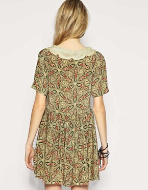 Image 2 ofTBA Exclusive to ASOS Silk Paisley Collar Dress