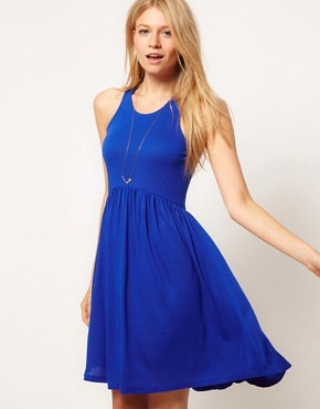 Image 1 of ASOS Babydoll Dress with Skater Skirt