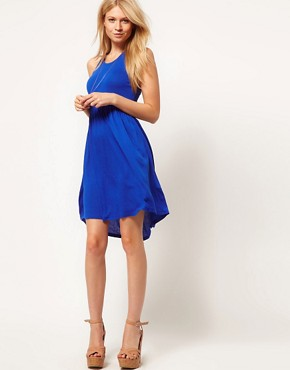 Image 4 of ASOS Babydoll Dress with Skater Skirt