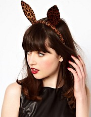 ASOS Leopard Bunny Ears Hair Band
