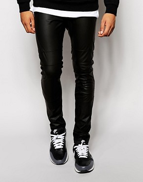 ASOS Meggings In Leather Look