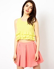 Oh My Love Frill Crop Top