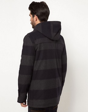 Image 2 of ASOS Stripe Duffle Coat