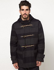 ASOS Stripe Duffle Coat