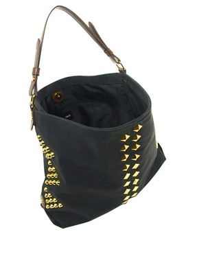 Image 2 ofASOS Studded Hobo Bag