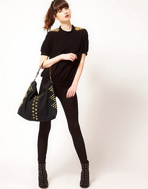Image 3 ofASOS Studded Hobo Bag