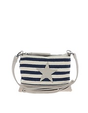 Pieces Grine Canvas Star Cross Body Bag