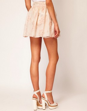 Image 2 ofRiver Island Organza Mini Skirt
