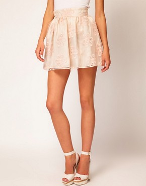 Image 4 ofRiver Island Organza Mini Skirt