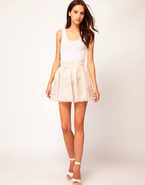 Image 1 ofRiver Island Organza Mini Skirt