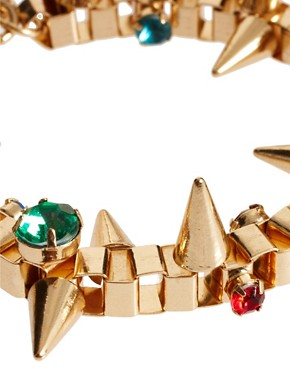 Image 4 ofASOS Jewelled Spike Bracelet