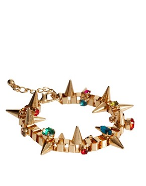 Image 1 ofASOS Jewelled Spike Bracelet