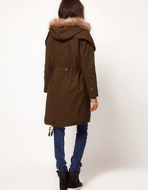 Image 2 ofASOS PETITE Exclusive Washed Parka