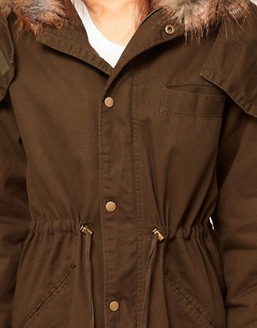 Image 3 ofASOS PETITE Exclusive Washed Parka