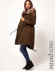 ASOS PETITE Exclusive Washed Parka