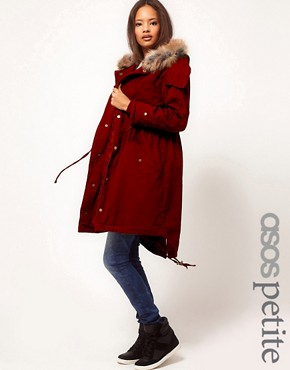 Image 1 ofASOS PETITE Exclusive Washed Parka
