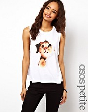 ASOS PETITE Tank with Peeking Kitten