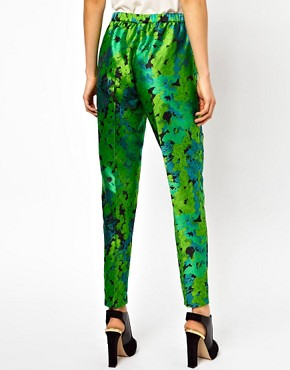 Image 2 ofASOS Trousers In Floral Jacquard