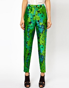 Image 4 ofASOS Trousers In Floral Jacquard