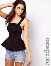 ASOS PETITE Exclusive Peplum Top Strappy