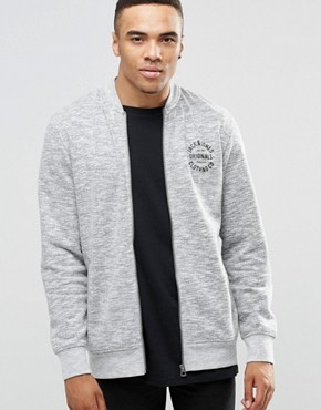 Jack & Jones Zip Through Sweat Bomber with Logo