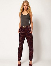 Selected Paisley Peg Pants