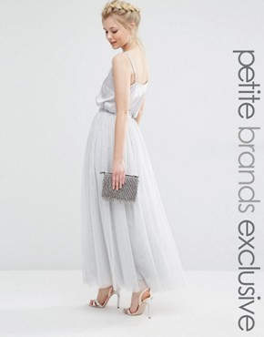 True Decadence Petite Tulle Maxi Skirt