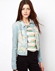 Vero Moda Tapestry Front Denim Western Jacket