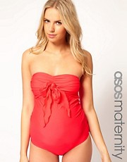 ASOS Maternity Exclusive Swimsuit With Bow