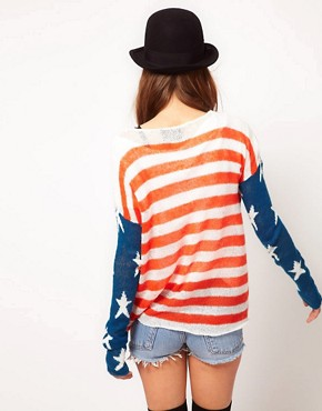 Image 2 ofWildfox 4th of July Long Sleeved Jumper