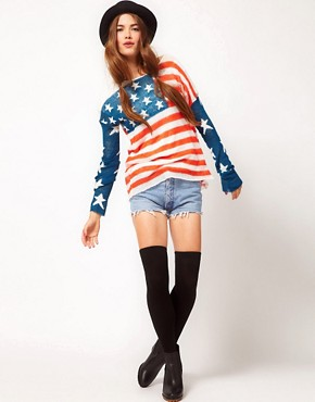 Image 4 ofWildfox 4th of July Long Sleeved Jumper