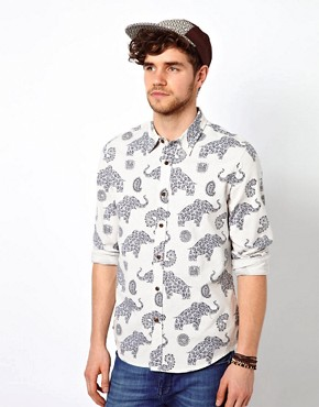 Image 1 ofASOS Shirt With Elephant Print