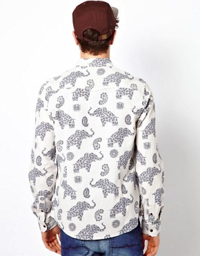Image 2 ofASOS Shirt With Elephant Print