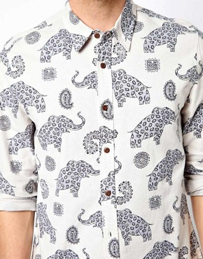 Image 3 ofASOS Shirt With Elephant Print