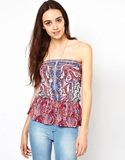 Warehouse Placement Print Bandeau Top