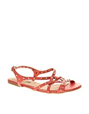 New Look Glorious Studded Caged Flat Sandal