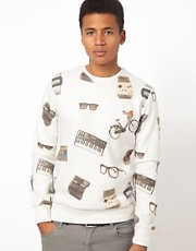 Criminal Damage &ndash; Sweatshirt mit Old-School-Motiven