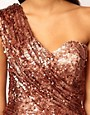 Image 3 ofOpulence England One Shoulder Sequin Dress