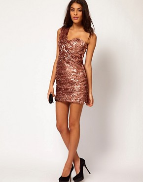 Image 4 ofOpulence England One Shoulder Sequin Dress