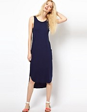 YMC Tank Dress with Pockets in Linen Jersey